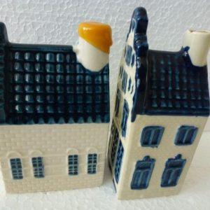 Gezocht Delfts blauwe KLM grachtenpandjes